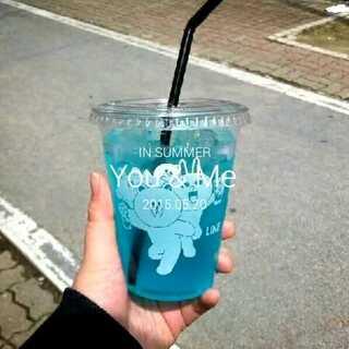 #周末##最爱的饮料^o^#😘蓝色柠檬水