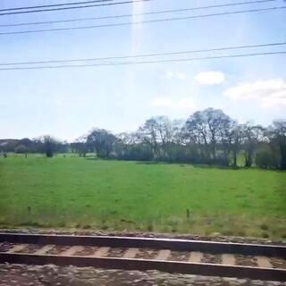 #小小美好#英国火车上的春天。60秒明天更😊