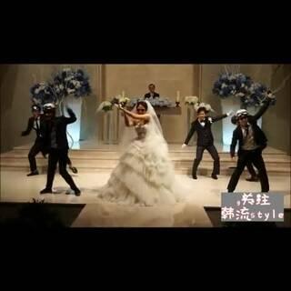 #要的就是这个韩流feel#16 别人的婚礼,别人的新娘,别人婚礼上的热闹!!羡慕死啦!!背景音乐是Crayon Pop《Bar Bar Bar》#舞蹈# 韩流style微信:1900258192 会说韩语最好。。