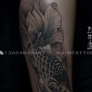 金鱼纹身###小金鱼##鱼纹身##照片电影##包头纹身##北京纹身