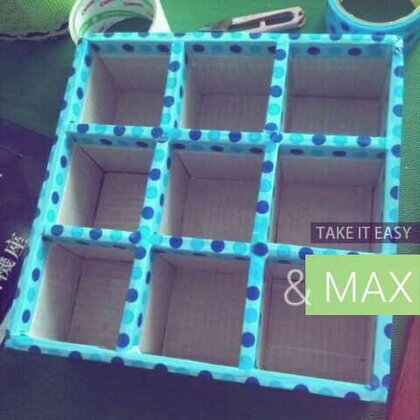 #照片电影##涨姿势##创意手工##一起来旧物改造#做个九格的储物盒,一边做一边拍的臣妾做不到啊,照片记录过程😜😜@xJane_