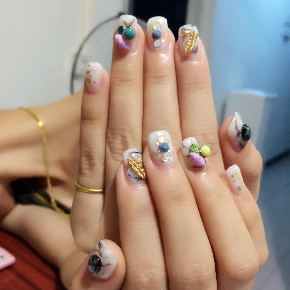 立体玫瑰花,雕光胶,永生花粉玫瑰好漂亮#美甲