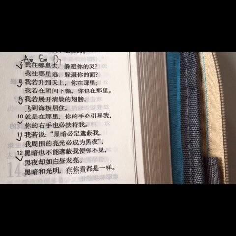 圣经诗篇139篇7 12节