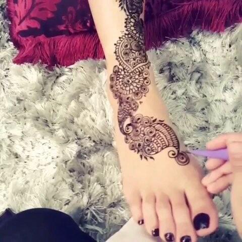 【爱上makeup美拍】#印度海娜手绘##曼海蒂##手绘曼.