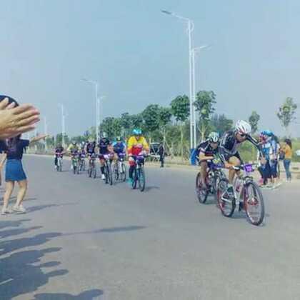 #山地车比赛#盐山喜德盛首届山地自行车比赛✌✌