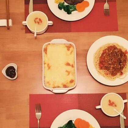 昨晚做的#自制西餐#😉