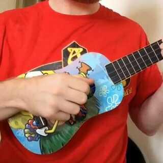 海绵宝宝SpongeBob SquarePants片尾曲我最喜欢的动画片之一,😂#海绵宝宝##SpongeBob SquarePants##ukulele##ukulele指弹#