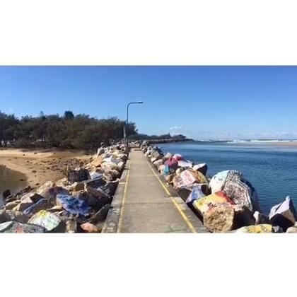 #旅行##自驾游##澳洲#Nambucca Heads防浪堤