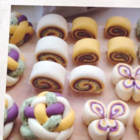 彩色面团制作过程#美食#96文字版和视频版都上传了