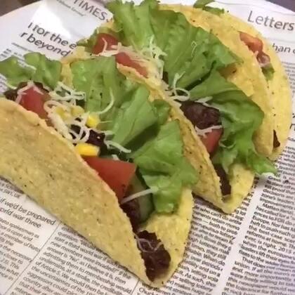 墨西哥风味玉米卷饼~今天也是厨艺满满的一天.~#美食#