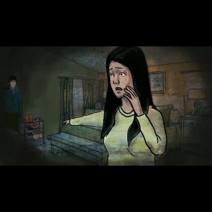 #关注5tv手机剧美拍账号观看全集#管峰又把房子租给一个女孩,有一天女孩急忙把管峰叫过去,神经质的跑回里屋,颤抖的背过身,低低的伸出手,向墙边的鞋架指去......#张震讲故事#👻😀