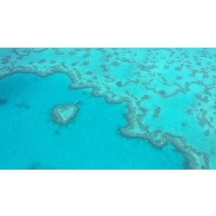 #旅行##大堡礁##观光飞机#2016.2.10.四分钟领略一小时的大堡礁观光飞机之旅。不仅可以看到圣灵群岛,白天堂沙滩,还可以看到外堡礁,心形大堡礁。