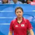 08年奥运会乒乓球女单第四轮,张怡宁VS福原爱,轻松打至9:0,大魔王因不忍心瓷娃娃输的太惨而故意让了1分,这演技,我只能给1分作为鼓励分。