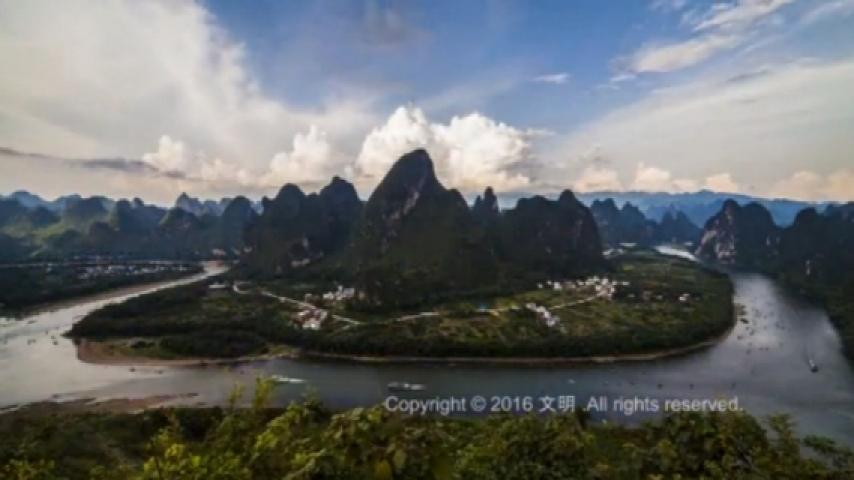 桂林山水水彩画_风景520