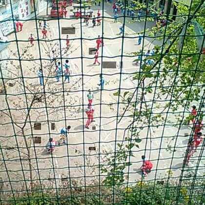 午休时间,在幺儿校园旁的山坡上拍的👶😃😃😃太阳下的轻松和校友们在尽情玩耍。我才晓得哪个是我滴幺儿哟😃😃😃