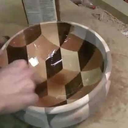 #涨姿势#强迫症做木匠:他切了几米的木头做出来一个果盘