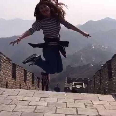 【混血小哥Ethan美拍】前几天在北京慕田峪长城的视频 ...
