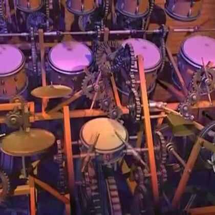 #涨姿势#计算机模拟出的:鼓神👍👍#音乐#