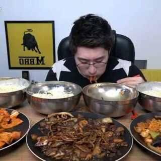 #直播吃饭##韩国美食##韩国吃播#大胃王#怎麼可能吃的下#