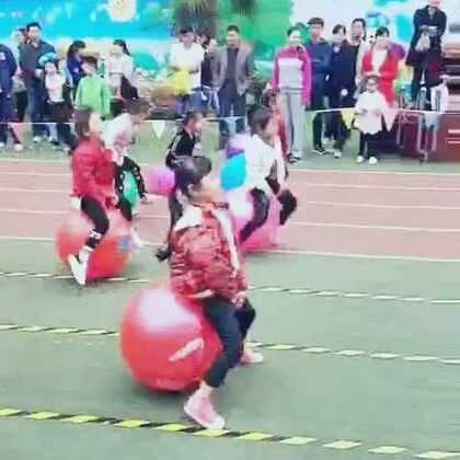 闺女幼儿园亲子运动会比赛