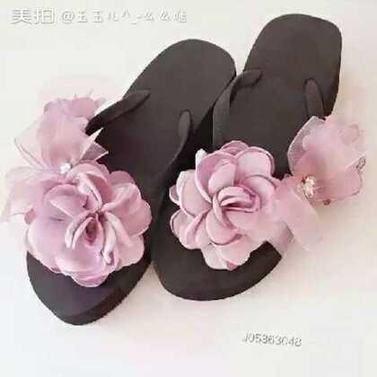 #今天穿这样##晚安#平底沙滩鞋~厚底凉拖~s m l,三码可选。仙儿仙儿哒❤❤❤