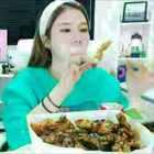 #韩国吃播#棉花姑娘吃炸鸡芝士球