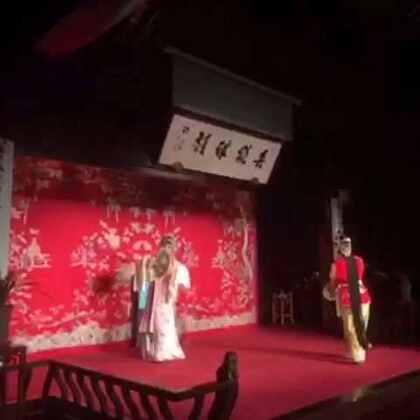 正在苏州访问的秘书长潘基文来到了苏州昆剧院,欣赏《牡丹亭》游园惊梦选段