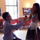 #浪漫求婚# 求婚现场视频,感谢好朋友多机位拍摄和这么快剪辑出来!