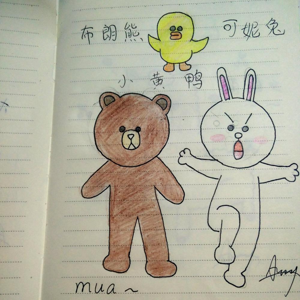 14:33     #可妮兔布朗熊小黃鴨# #卡通簡筆畫# #可妮兔布朗熊哦# 26