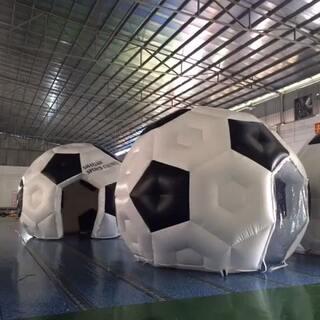 #广州佳凯气模充气足球造型帐篷##充气气模联系方式:邝小姐:微信&手机:13535056311#