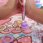 #粘土##00后粘土大战##寻找最美粘土女孩#渐变紫色蛋糕🎂😊😊😊