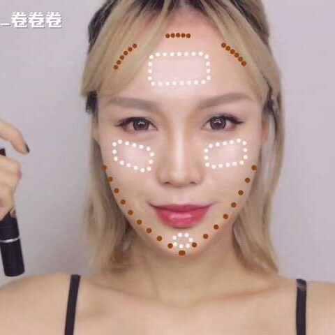 【vicky卷卷卷美拍】#美妆时尚#不同脸型的修容方法来...