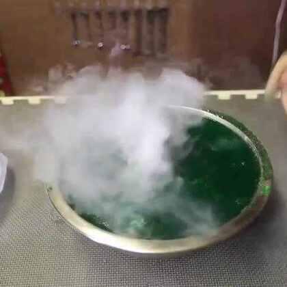#涨姿势#把干冰放到粘液中会发生什么?美的惊艳