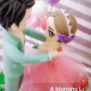 手工粘土婚纱人偶##超轻粘土婚纱##超轻粘土婚纱新娘##超轻粘土