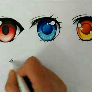 画画##手绘##马克笔手绘#眼睛的几种画法(上色版)