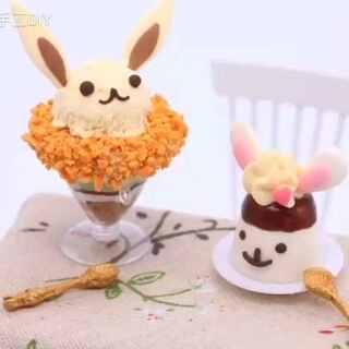 【兔子甜点】两只小兔叽✨✨✨~~~一口就能吃掉一个!😚#暖绒绒手工diy##涨姿势##直播玩玩具# @今天你涨姿势了吗 @美拍小助手 天猫:http://e22a.com/h.0zs8sm?cv=AANpMtCY&sm=a57fe9