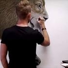 大神画狮子的过程,卧槽,这细腻程度,给跪