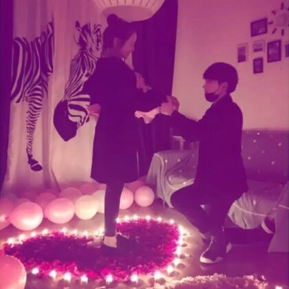 11-2 求婚成功 准备婚礼💒 开启新的生活❤️等了这么久 终于看到你们开花结果 #金大白林珊珊##11-2大白跟林珊珊求婚成功 #