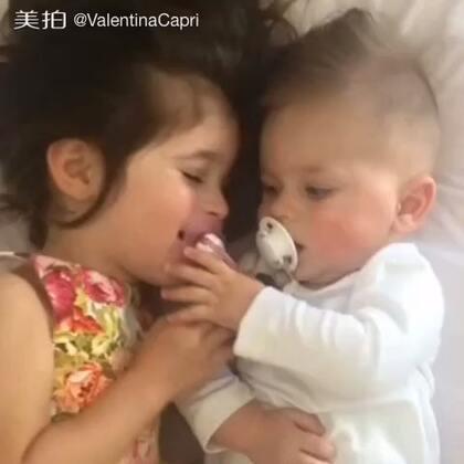 #宝宝成长日记# He naughty side smile at the end 😏最后他顽皮的一笑#ValentinaCapri##BabyRomeo#