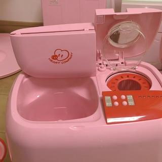 #宝宝##玩具##玩具介绍##直播玩玩具# 日本90年代出产的洗衣机玩具~做得十分精致,不仅有洗衣功能,脱水也可以做到👍