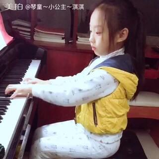 #小小钢琴家#小公主的独奏作业练习【《灵巧的手指》车尔尼 曲】几天的练习指手总算跑得有点速度了👏👏👏节奏还有待进步,好好加油哦!指导老师:柯姣姣