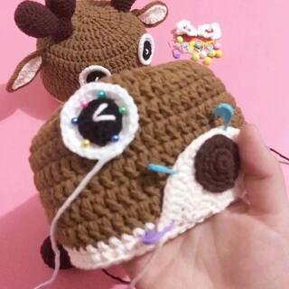 圣诞麋鹿帽子教程-19#手工编织##手工宝宝帽子##圣诞节宝宝帽子#喜欢