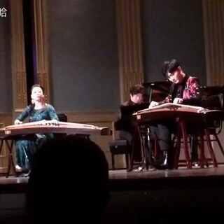 五行弹拨#刘乐,伍洋古筝二重奏《夜深沉》