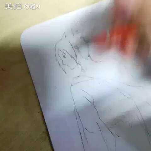 宇智波佐助 手绘简笔佐助 璠zi的美拍
