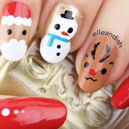 #美妆时尚##我要上热门#一年一度的圣诞节,很快就在下周末到来,一起来给自己做一份圣诞美甲礼物吧~😘😘#圣诞美甲#
