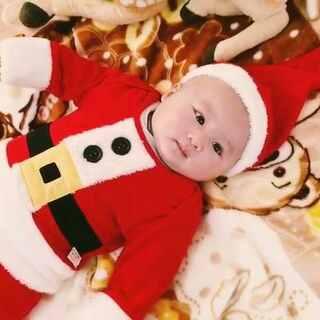 #宝宝##宝贝最潮圣诞红#@宝宝频道官方账号 @美拍小助手 圣诞小宝宝,弟弟两个月13天