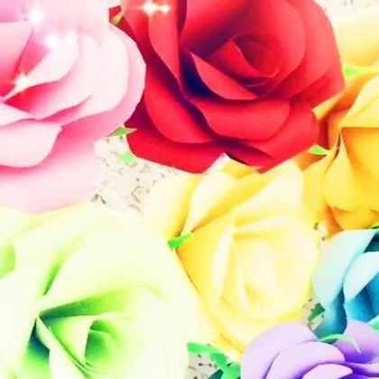 教你三分钟叠出漂亮的红玫瑰,比以前的纸玫瑰更逼真哟,卧槽,碉堡了!!#手工##涨姿势#💥💥✨✨