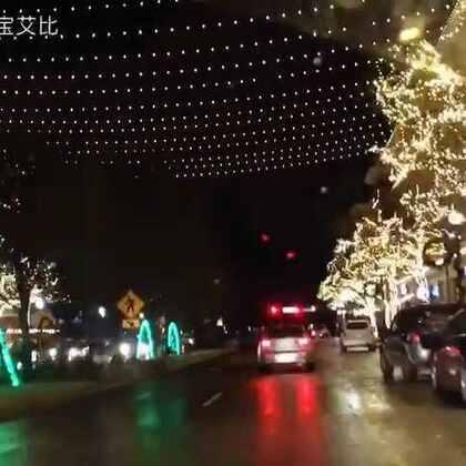 镇上的灯 #圣诞快乐#