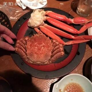 #北海道旅行##直播吃毛蟹#😃分解一个毛蟹