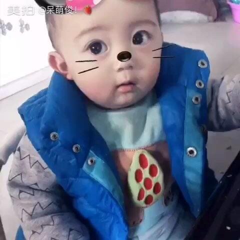 【呆萌俊!🍓美拍】#宝宝#阔爱的俊宝大病出愈继续 ...